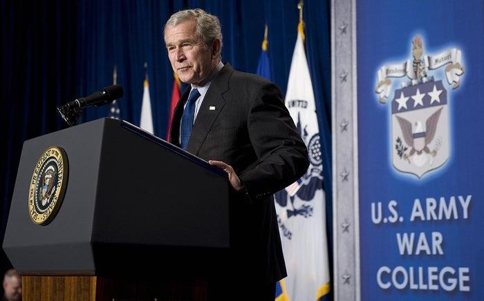 George W. Bush in 2008.