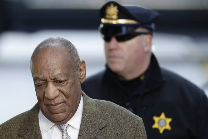Bill Cosby arrives for a pretrial hearing on March 5, 2018.