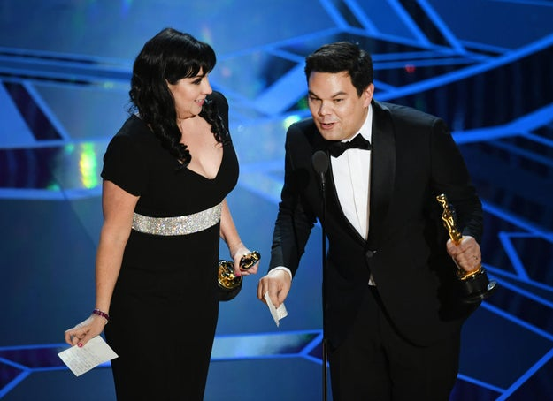Songwriter Robert Lopez won his second Oscar last night, alongside his wife and writing partner, Kristen Anderson-Lopez. This makes him the first person in history to have won at least TWO each of an Emmy, Grammy, Oscar, and Tony —  a DOUBLE EGOT!