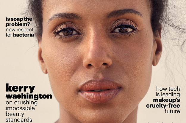 kerry washington did not lay her edges for this photo shoot and we