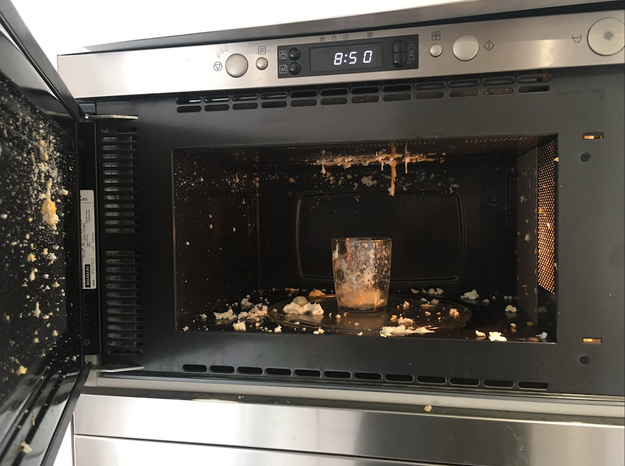 Whoever did this proves that even microwave cooking can go bad fast: