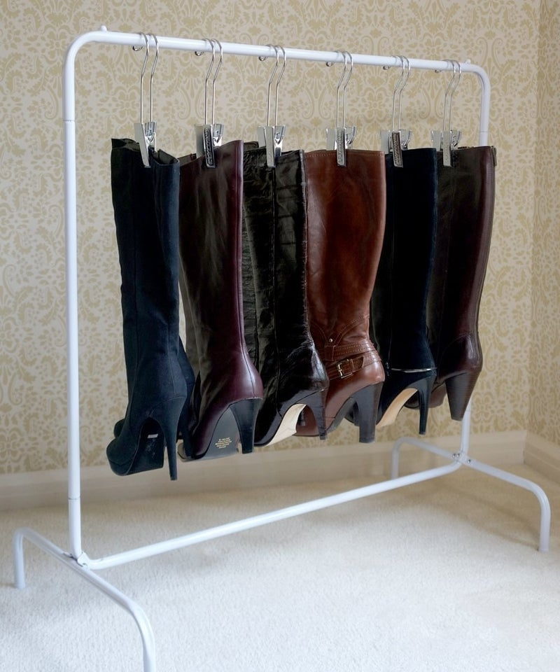 Keeping them them on a special rack is the perfect solution to keep them intact and organized.