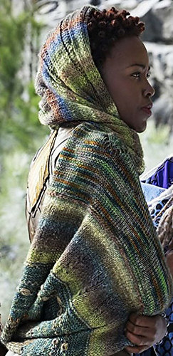It uses four different yarns and features a lot of different textures, just like Carter asked for.