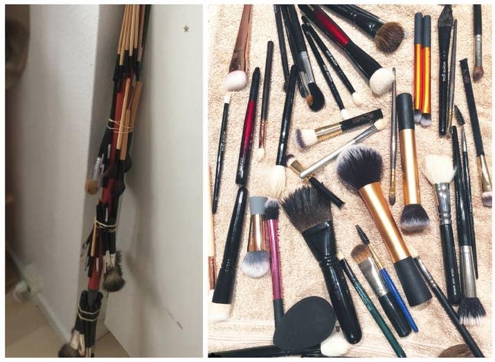 ¡Los pinceles limpios aplican el maquillaje de manera más uniforme y fluida que los sucios! Y no me hagas empezar con lo de las bacterias que los pinceles acumulan, descartas el maquillaje viejo y contaminado, pero es probable que conserves los pinceles y los uses con el maquillaje nuevo ¡sin limpiarlos apropiadamente! ¡Asqueroso!!!—nataliem43e77faae