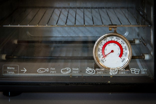 You don't realize that your oven runs too hot (or too cold.)
