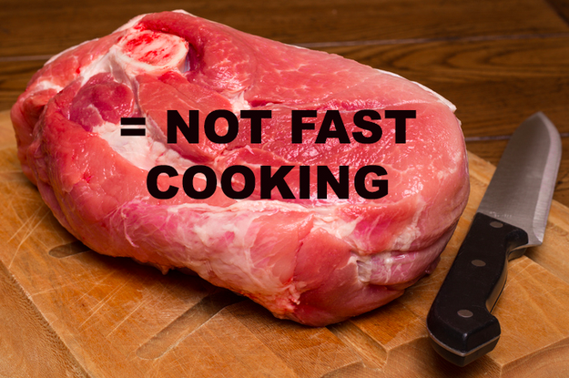 You buy the wrong cuts of meat for your recipes.