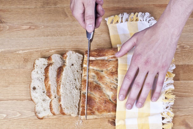 Don't cut into your bread as soon as it comes out of the oven.