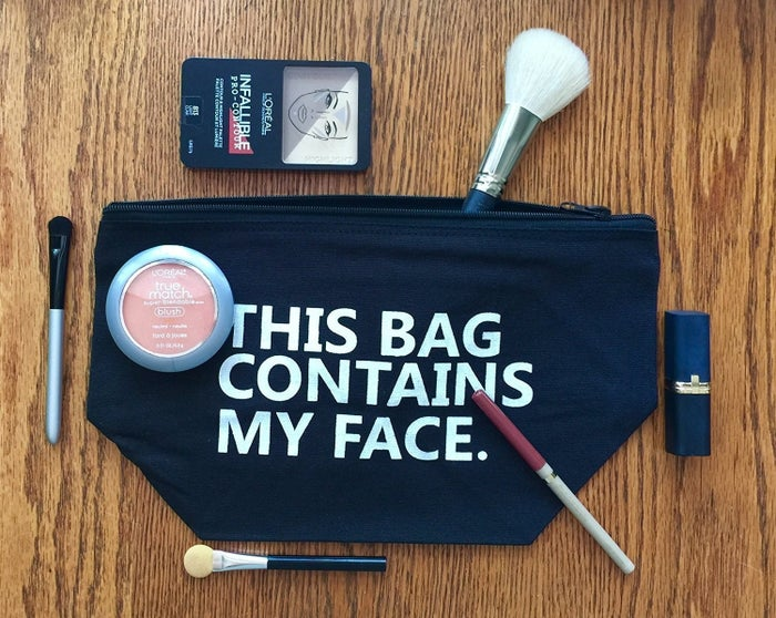 """Promising review: """"This bag is adorable. I am a law student and always on the go and when I need to put on 'my face,' I like having everything with me. This bag is the perfect size. I couldn't be happier."""" —Sydney McGregorPrice: $19.95 (available in two colors)."""