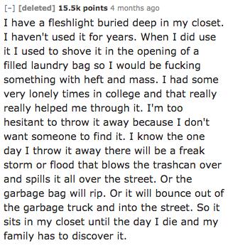 Deep deep secrets in the closet: