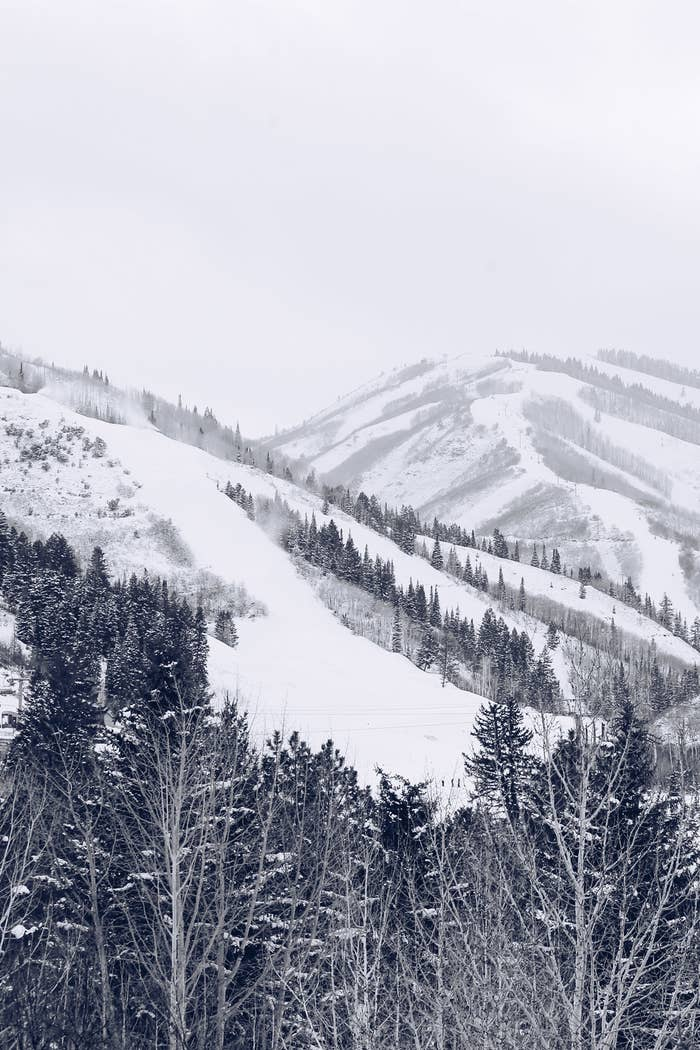 A snowy mountain in Park City, Utah.