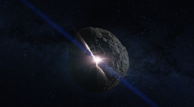 An asteroid collision depiction