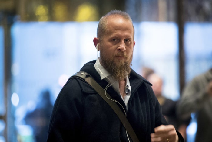 Brad Parscale arrives at Trump Tower in New York.