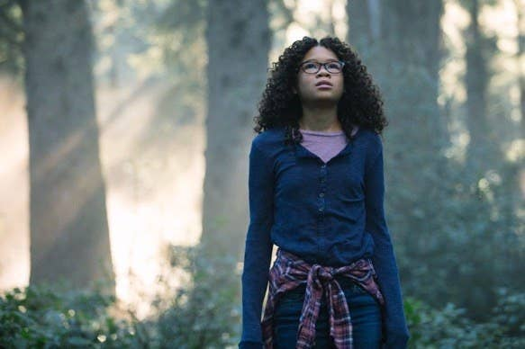 Storm Reid as the heroic Meg Murray in Disney's A Wrinkle in Time.