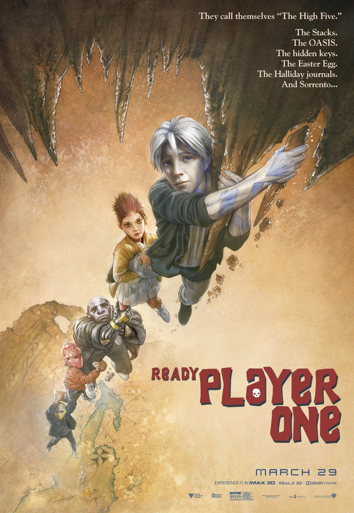 "Ready Player One movie poster j - 11/"" x 17/"" Labyrinth"
