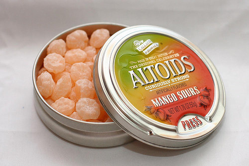 A candy that was both tasty and made you feel like you ran sandpaper on your tongue: