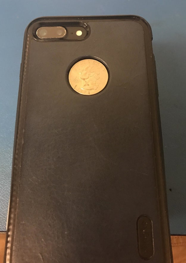 "If you told me this iPhone case had a built-in quarter holder I'd be like, ""That's weird, but I believe it based on the evidence!"""