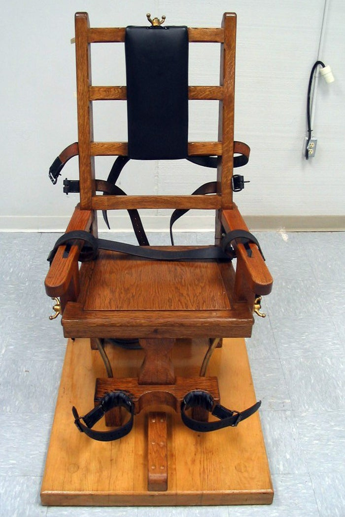 File photo of an electric chair used by the Virginia Department of Corrections in 2006.