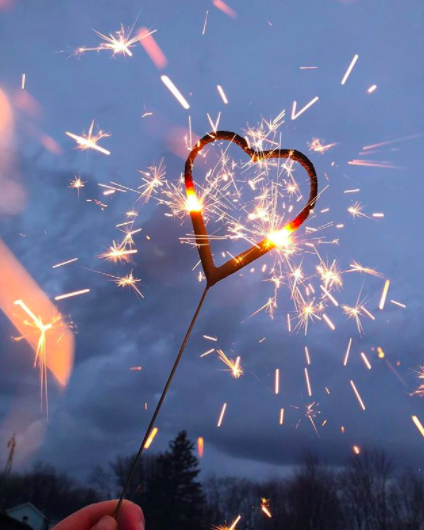 Heart-shaped sparklers can add an adorable twist on your ceremony exit versus throwing confetti or blowing bubbles.