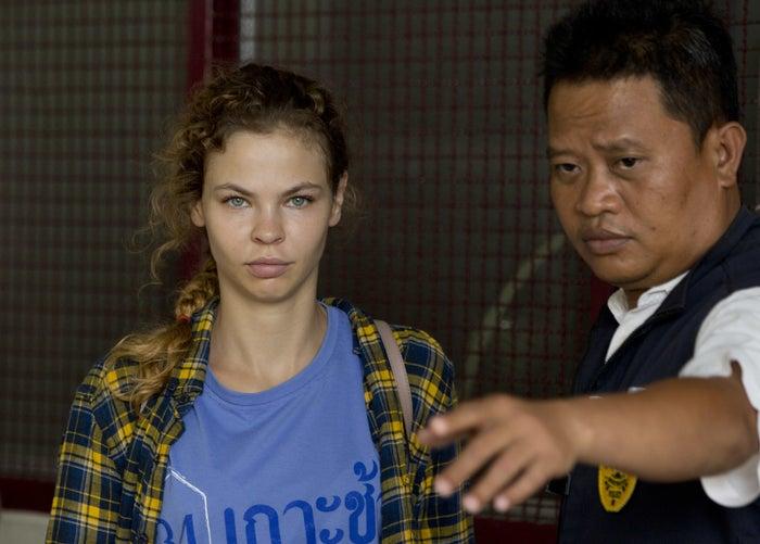 Anastasia Vashukevich after her arrest in Thailand.