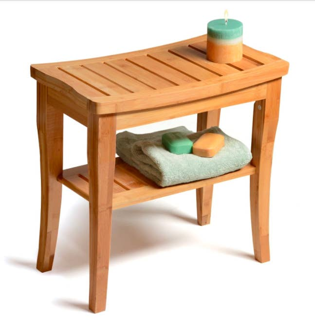 """And it's great for accessibility purposes!Promising review: """"I've been looking for a teak shower bench for some time. Most were running about $$$. I was surprised to see that this bench was half the price. The quality rivaled all I've seen in big retail stores. I am very happy with this, my first purchase with Overstock! My shipment was delivered within a few days. Very easy to assemble and it looks fantastic in my new walk-in shower. The size is perfect, too!"""" —OstkUser26629777Price: $64.99"""