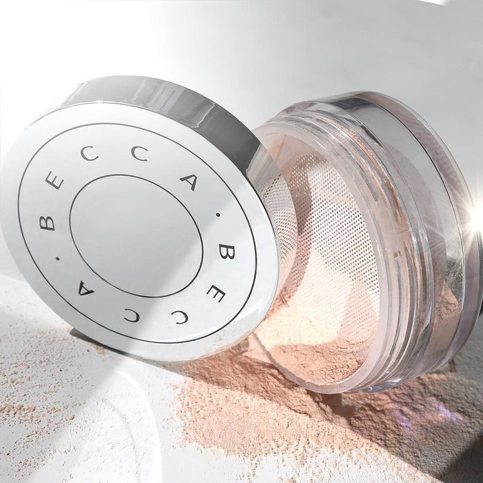 """Promising review: """"I am blown away by this powder. First of all, the packaging is beautiful and functional, as it keeps everything mess-free. I applied this powder with my damp beauty blender as I usually do, and couldn't help but notice how flawless my face looked. I have now had this product on my face for about six hours and it still looks flawless. I have pretty dry skin around the winter months, so I was intrigued by the '50% water' claim. It hasn't caked up or settled into lines at all. I also took pictures on my camera to test the flashback and did not have any issues — my skin just glows on camera. When applying, it feels cooling, almost as if I were rubbing water into my face. Yet it's not wet and clearly 'dries' to a powder. I have absolutely no idea how they did it, but I am so glad they did. I may be returning the brand new Laura Mercier powder I just stocked up on and switching to this indefinitely"""" —taylorfano21Get it from Sephora for $38."""