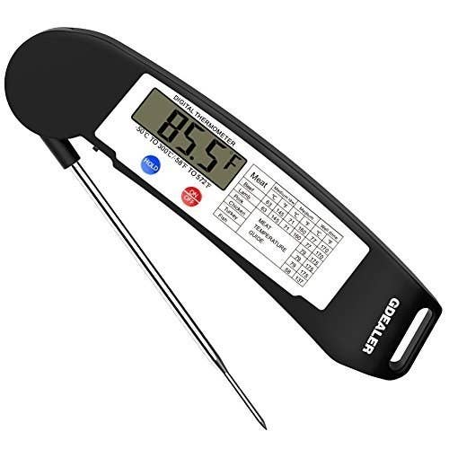 "Promising review: ""Great thermometer! I bought this for my girlfriend for Christmas as she has gotten interested in baking, and more specifically bread making. If you search online, a lot of bakers prefer using a thermometer as opposed to any other method (like a toothpick) to check for doneness. She has had the thermometer for two months now and really enjoys it. It's accurate and it gives novice bakers more confidence. Highly recommend."" —Amazon CustomerHere's where you can find out out exactly where to place your thermometer based on what you're cooking, and what temperatures your foods should be. Get it from Amazon for $13.59."