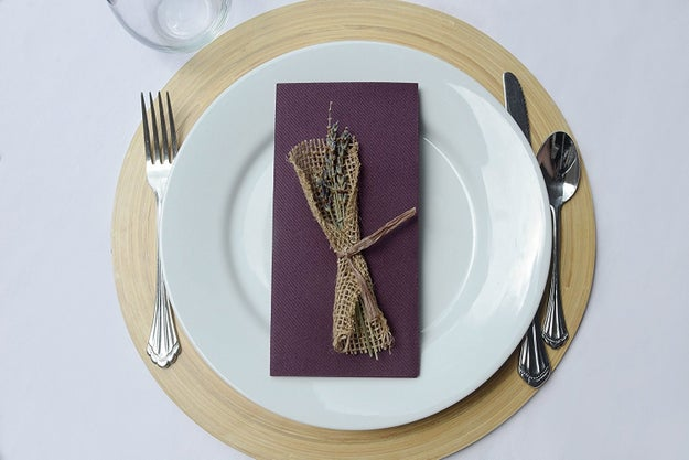 Using classy disposable napkins will keep your tables looking fancy while saving you money.
