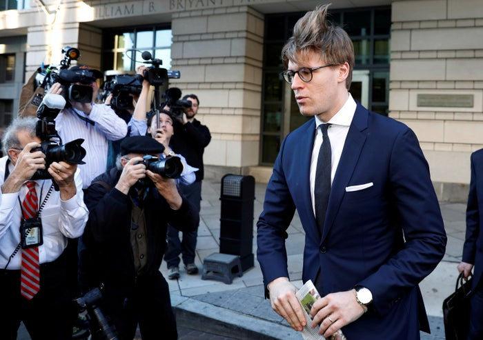 Alex van der Zwaan at the DC federal courthouse after entering his guilty plea in February.
