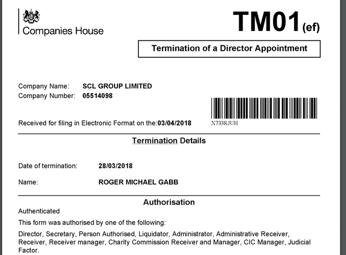 Gabb's filing with Companies House.