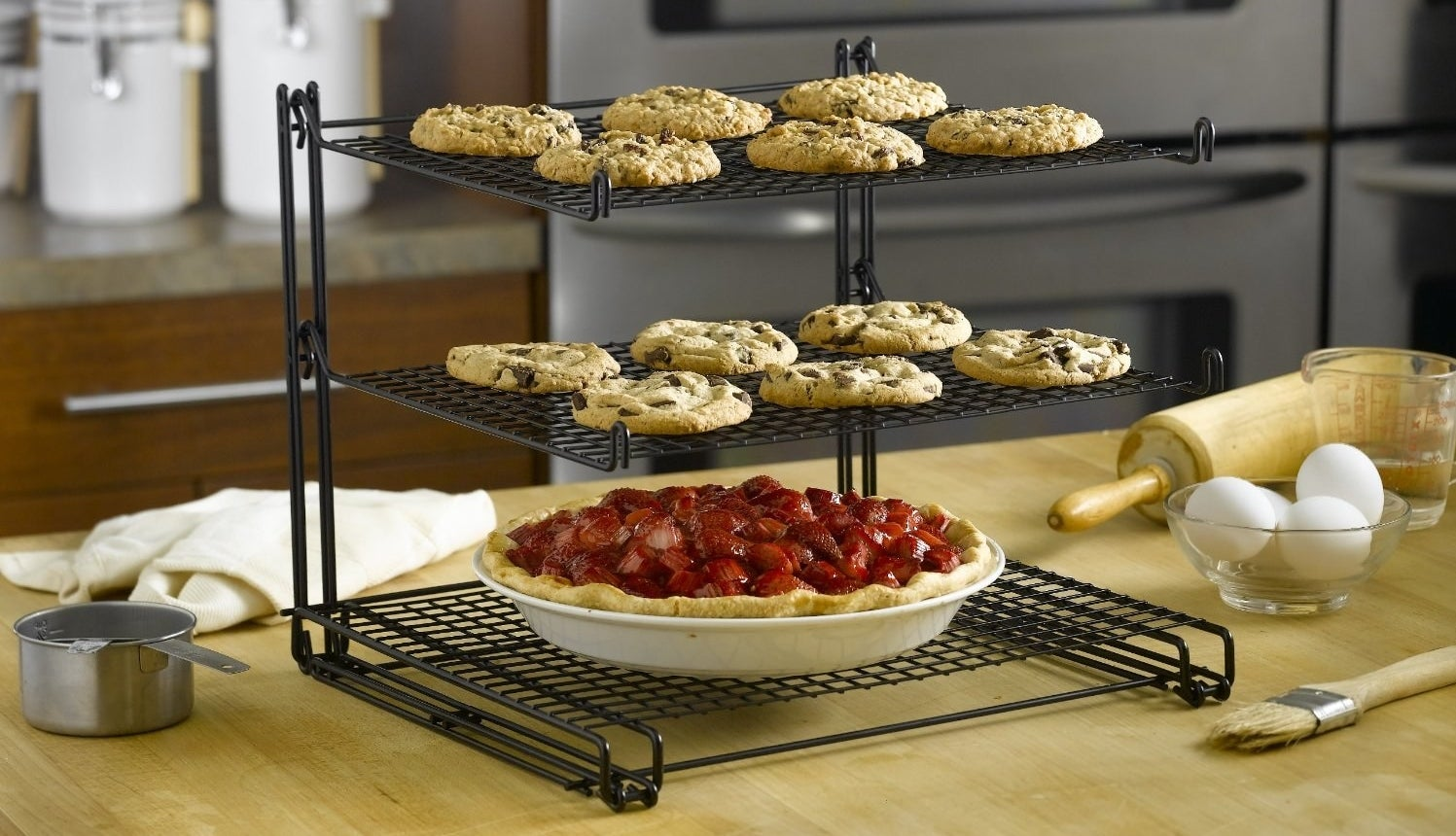 A three-tier cooling rack that'll ensure you can enjoy your bites without burning your mouth, because that wouldn't be fun.