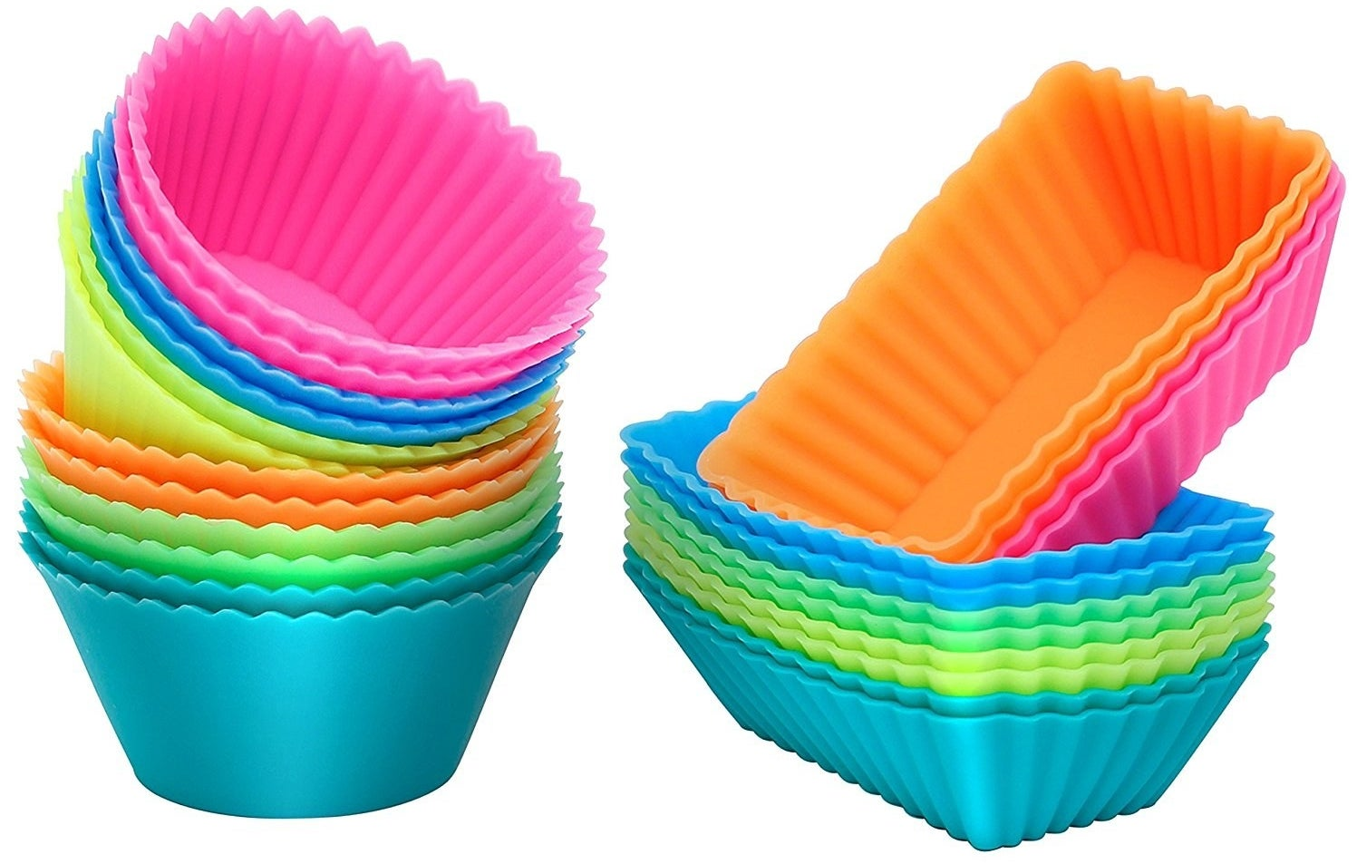 A 24-pack of reusable silicone cupcake liners that'll assist you in baking your fave delish goods... and then in baking them again, and again, and again, and again...