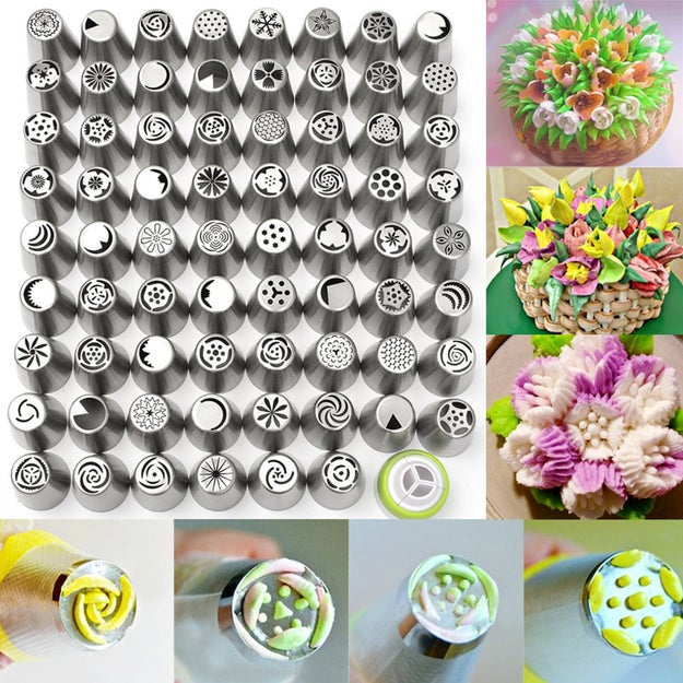 A 70-piece decorating tip set that'll make your noms almost too pretty to even eat.