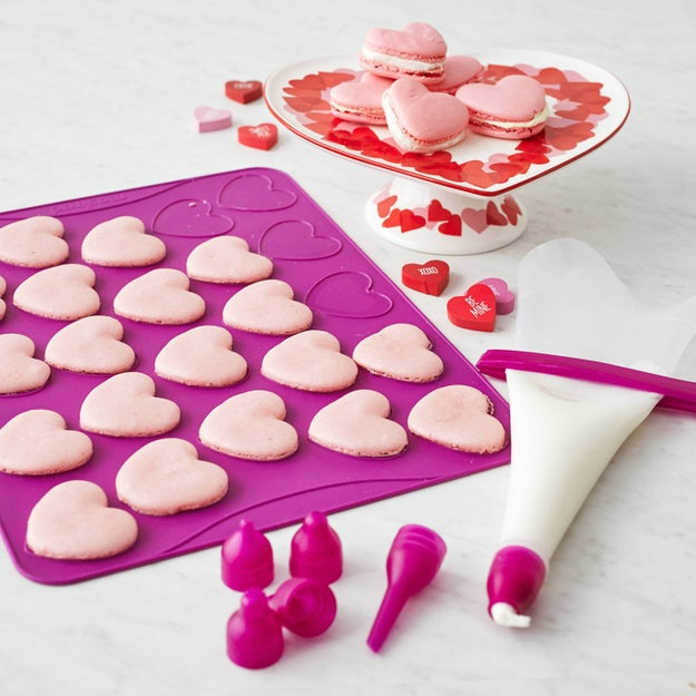 A heart-shaped macaron kit that'll allow you to avoid shelling out a few dollars on a single macaron at your local mall kiosk! Now you can make a whole batch of 'em in your pajamas.