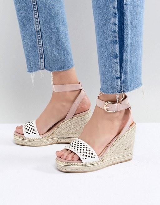 Womens Platform Wedge Sandals w// Buckle Accent Ankle Strap Black Size 5.5-10