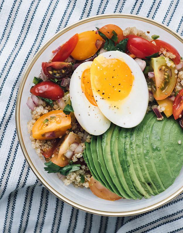 Quinoa, Avocado, and Tomato Bowl