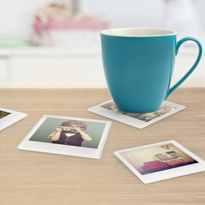 """Promising review: """"I LOVE these! They're so easy to use: just put your pictures in. These make for a very unique and thoughtful gift."""" —Kelly Get a set of four from Amazon for $12."""