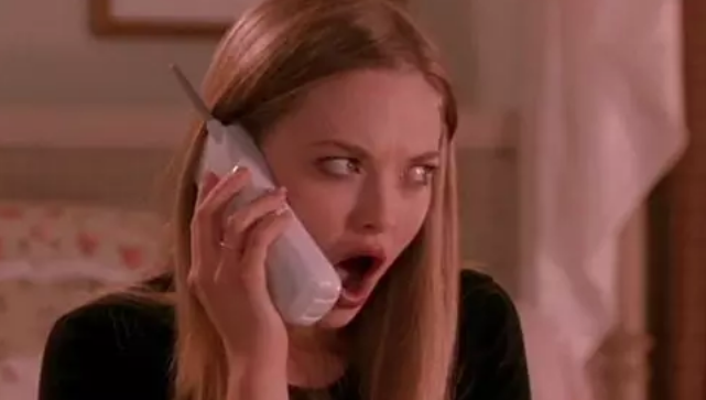 """Karen in """"Mean Girls"""" with her jaw dropped"""