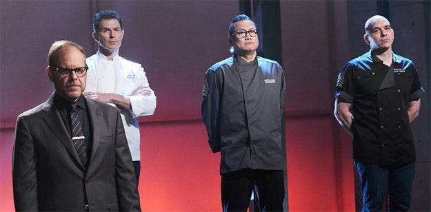 Also in Iron Chef, the chefs know who is being challenged way before the show airs.