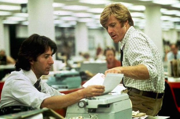 The production team on All The President's Men spent $450,000 (close to $2 million today,) creating an exact replica of The Washington Post's offices, which even included their trash.