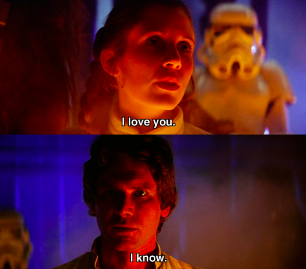 "The famous Star Wars ""I love you/ I know"" interaction wasn't actually in the original script, but suggested by Harrison Ford."