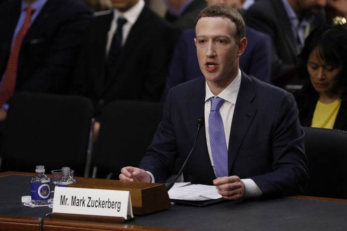 Facebook CEO Mark Zuckerberg testifies in a Senate Judiciary and Commerce committees joint hearing regarding the company's use and protection of user data.