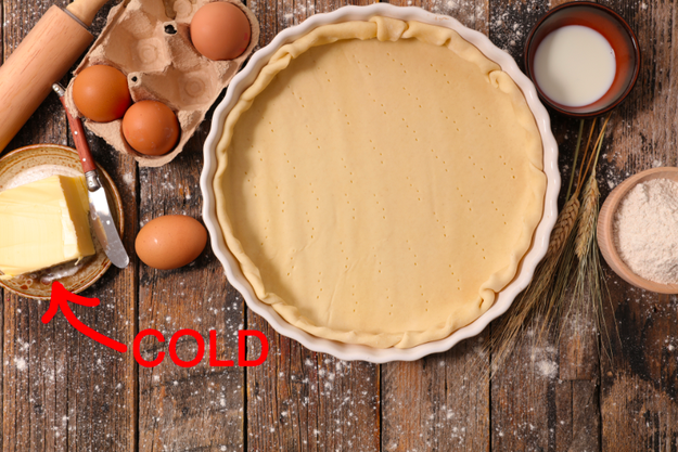 But if you're making pie crust, use cold butter.