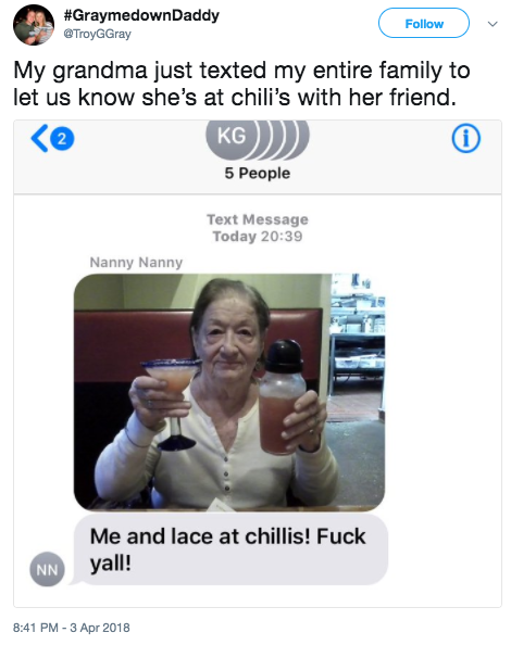 This grandson received this iconic text from his grandmother: