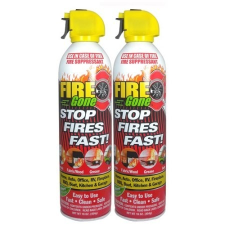 Fire extinguisher spray for when emergencies do happen. Safety first!