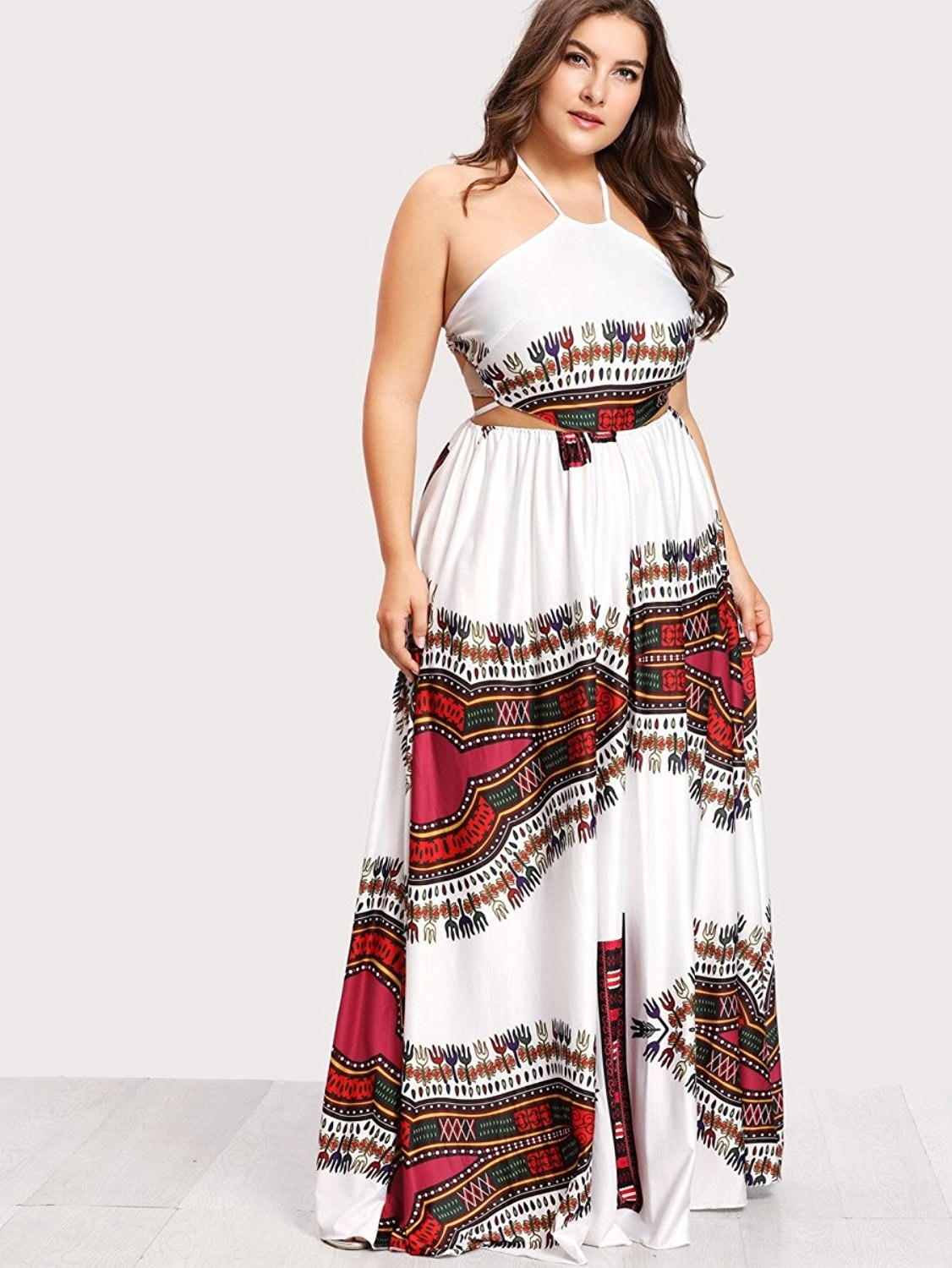 7300a007e5c9 A boho halter dress to wear when you re trying to only make dramatic  entrances this spring.
