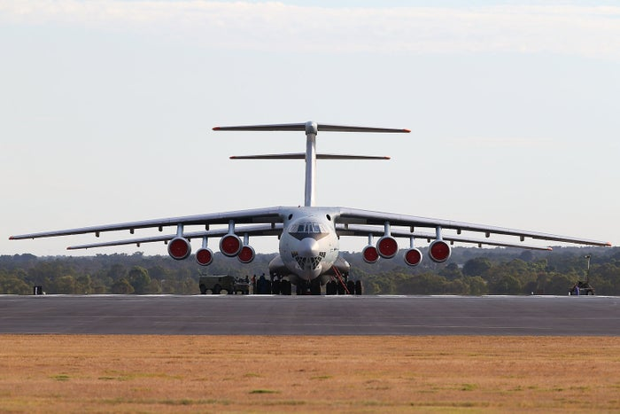 An Ilyushin Il-76 aircraft, the same model as the plane that crashed.