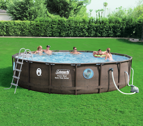 Turn your backyard into a little oasis with this aboveground pool that's aesthetically designed and built with long-term durability in mind to handle all the fun you can have. The pool is easy to install and even features four windows for swimmers to enjoy! $383.00