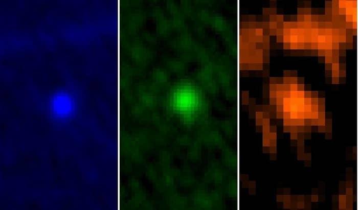 Herschel space telescope images of Apophis.