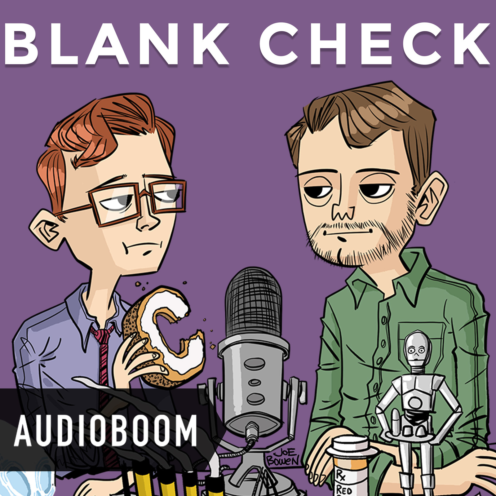 """Griffin Newman and David Sims'  Blank Check  -  """"[It] has blankies, no professor crispy, a superhero sidekick, and a guy who lived in England. Plus #thetwofriends, a competitive advantage."""" —  Sarah H. Listen to the show here."""