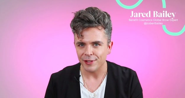 This is Jared Bailey, a brow expert with Benefit Cosmetics.